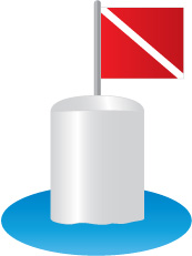 Diving buoy (Flag A)