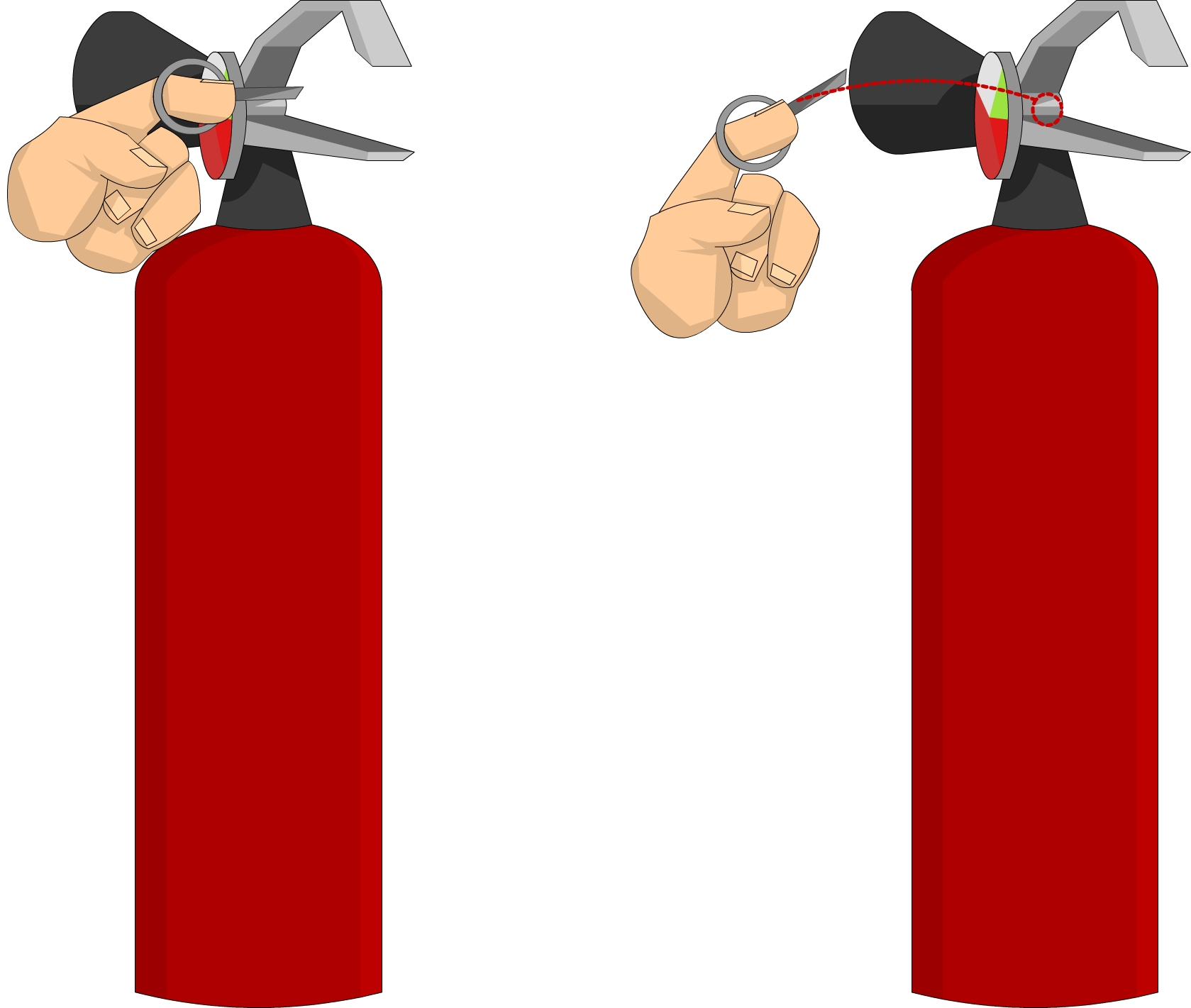 Fire extinguisher - Pull pin