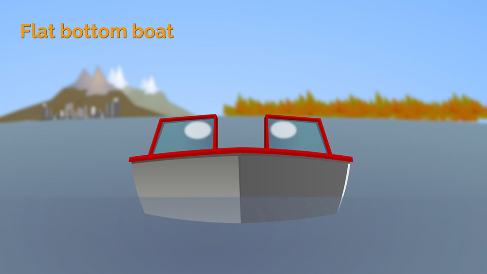 Flat bottom boat