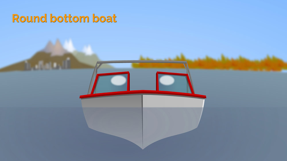 Round bottom boat