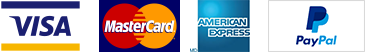 Accepted payment methods - VISA, MASTERCARD, AMERICAN EXPRESS, PAYPAL